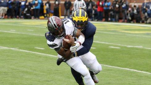 J.T. Barrett taken down against Michigan