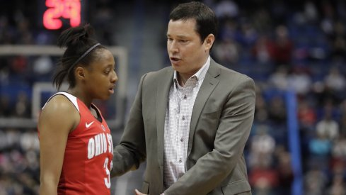 Kelsey Mitchell led the Buckeyes in scoring, but it wasn't enough.