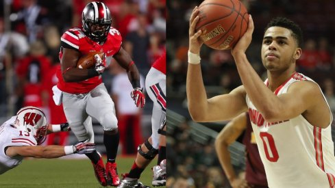 Ohio State athletes D'Angelo Russell and Carlos Hyde