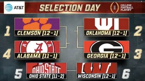 Final College Football Playoff rankings