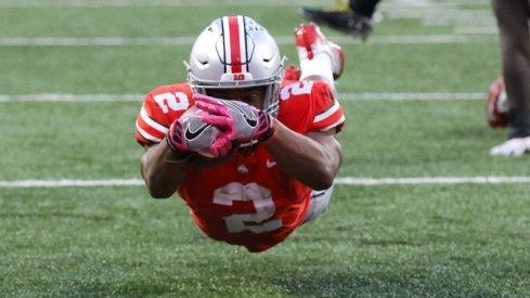 J.K. Dobbins is putting up numbers as a true freshman. (Photo: Joseph Maiorana-USA TODAY Sports)
