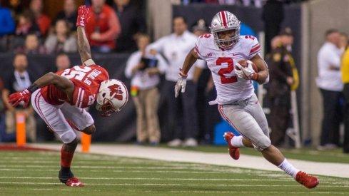 J.K. Dobbins has only lost nine yards rushing so far this season. (Photo: Trevor Ruszkowski-USA TODAY Sports)