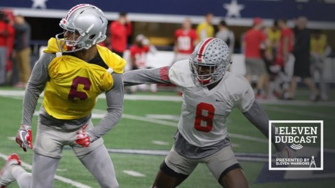 Ohio State practices in preparation for the Cotton Bowl