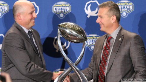 Clay Helton and Urban Meyer