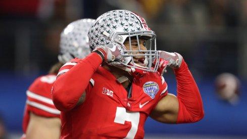 Damon Webb celebrates touchdown.