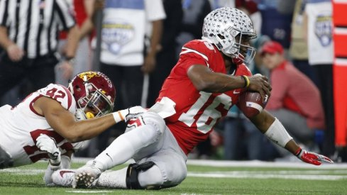 In his final game as a Buckeye, J.T. Barrett tallied 180 total yards and a pair of scores.