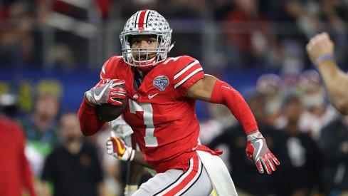 Damon Webb returns a Sam Darnold interception for a touchdown in the Cotton Bowl.