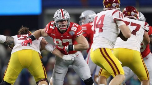 Nick Bosa and his defensive linemates feasted on an overwhelmed USC front to key Ohio State's Cotton Bowl win over the Trojans. (Photo: Matthew Emmons-USA TODAY Sports)