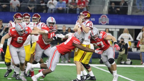 """The Buckeye """"Rushmen"""" got up close and personal with Sam Darnold all night in the Cotton Bowl."""