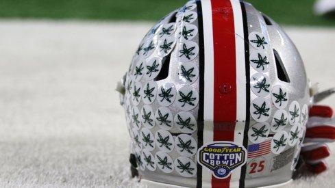 Ohio State's Cotton Bowl helmet.