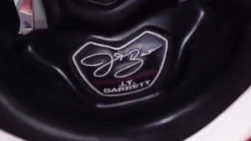 J.T. Barrett's Precision-Fit helmet.