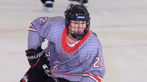 Buckeye rookie Liz Schepers helped Ohio State women's hockey knock off Minnesota.