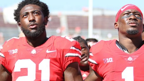 Parris Campbell and Johnnie Dixon