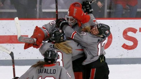 Ohio State women's hockey defeated No. 1 Wisconsin behind Kassidy Sauve's eighth shutout of the season.