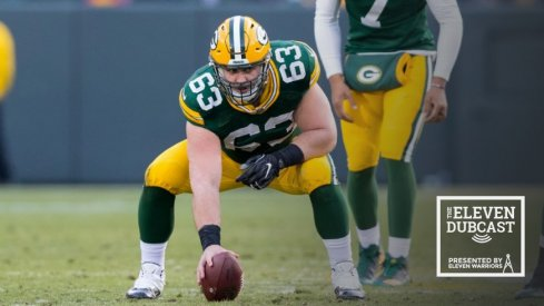 Former Ohio State lineman and current Green Bay Packer Corey Linsley