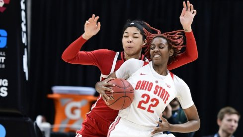 Ohio State downed Rutgers to advance to the Big Ten Tournament semifinals.