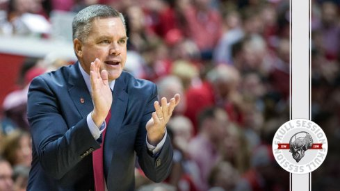 Chris Holtmann applauds the March 3 2017 Skull Session