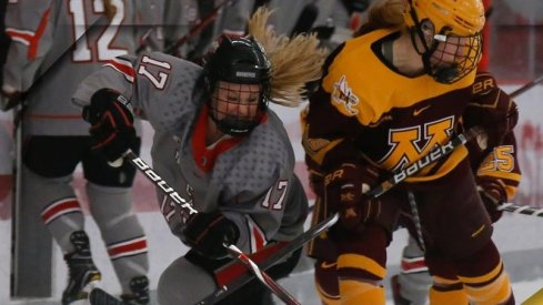 Emma Maltais and the Buckeyes battled Minnesota in the WCHA semifinals.