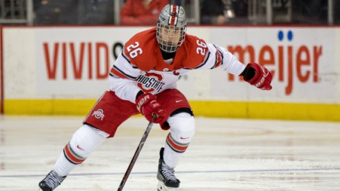 Buckeye captain Mason Jobst netted a pair of goals in Ohio State's Game 2 quarterfinal win over Michigan State.