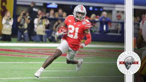 Parris Campbell dashes to the March 5th 2018 Skull Session