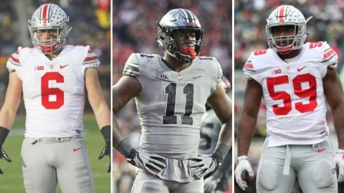 Sam Hubbard, Jalyn Holmes and Tyquan Lewis accounted for nearly 36% of Ohio State's 2017 sack total.