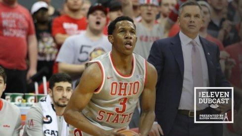 Ohio State men's basketball player CJ Jackson and coach Chris Holtmann