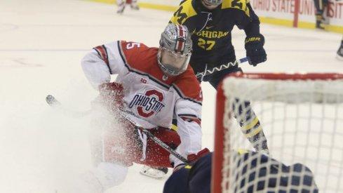 Ohio State men's hockey player Brendon Kearney