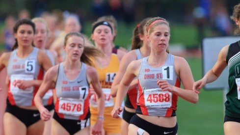 Women's track competes at the Black and Gold Challenge