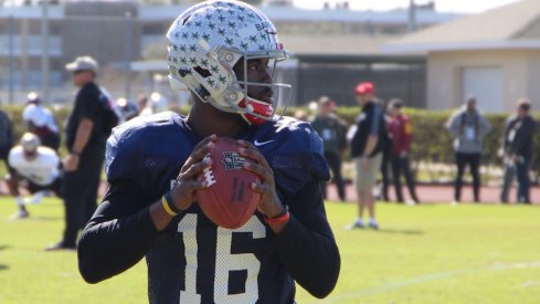 J.T. Barrett at the East-West Shrine Game.