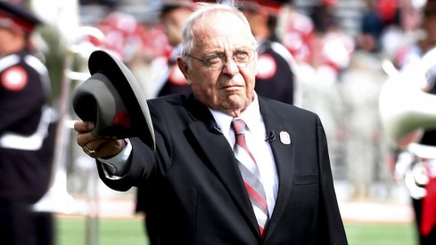 Earle Bruce before Ohio State's game against Rutgers in 2016.
