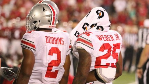 J.K. Dobbins and Mike Weber give Urban Meyer an elite 1-2 punch at tailback.