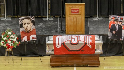 Earle Bruce was remembered at a celebration of his life at Ohio State on Wednesday.