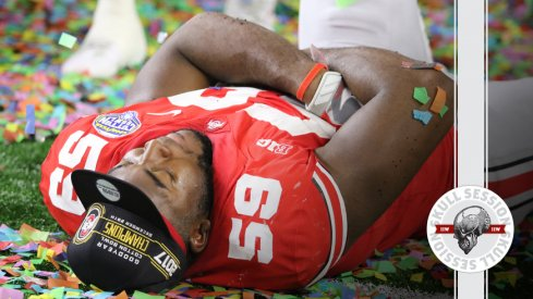 Tyquan Lewis sleeps for the April 28 2018 Skull Session
