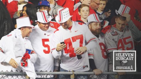 Very fancy Ohio State fans, being rich and fancy.