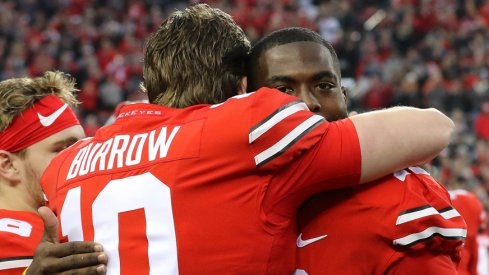 Joe Burrow and J.T. Barrett on Senior Day