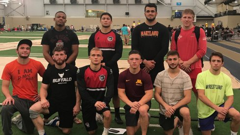 Myles Martin (back left) and Kollin Moore (back right) anchor the U23 Freestyle World Team.