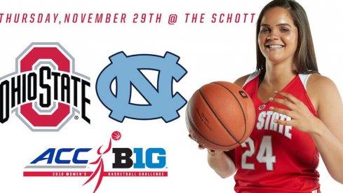 Ohio State will host North Carolina.