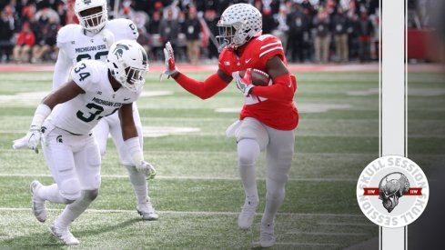 Parris Campbell stiff-arms the June 19 2018 Skull Session