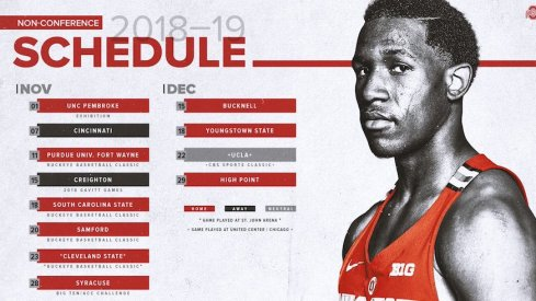 Ohio State's non-conference basketball schedule
