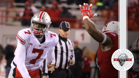 Dwayne Haskins throws a rope to the June 26 2018 Skull Session