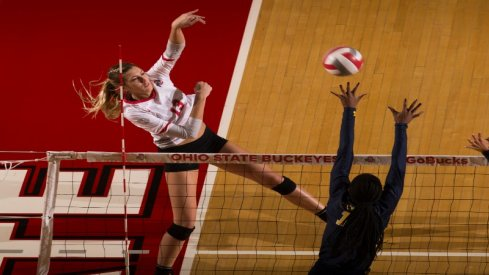 Ohio State's Madison Smeathers, a junior middle blocker, will contribute for the Buckeyes this fall.