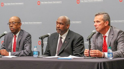 Michael Drake, Gene Smith and Urban Meyer