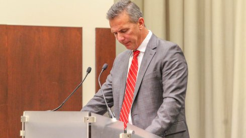 Ohio State announced a three-game suspension for Urban Meyer Tuesday evening.