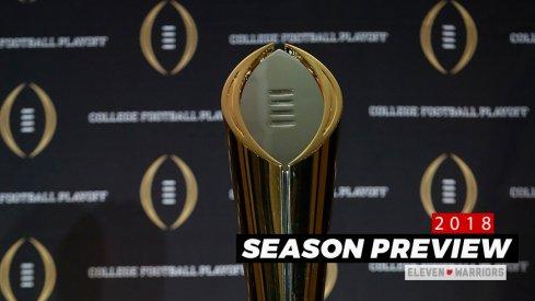 Alabama, Clemson, Georgia, and Ohio State are the Vegas favorites heading into the 2018 season.