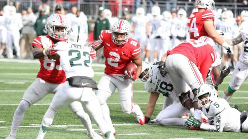 J.K. Dobbins should receive plenty of carries in Ohio State's run-centric offense this fall.