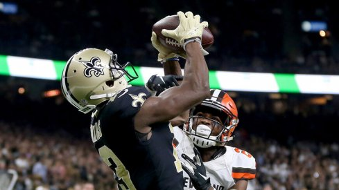 Michael Thomas set an NFL record with 28 receptions in his first two games of the 2018 season.