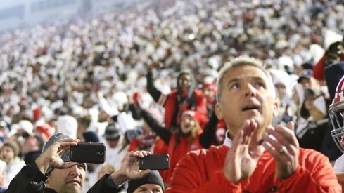Urban Meyer at Beaver Stadium.