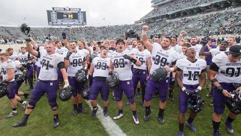 Northwestern put a damper on Michigan State's homecoming festivities.