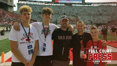 Kalen Etzler (second from the left) and his family