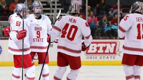 Tanner Laczynski scored twice in Ohio State's victory over Massachusetts.